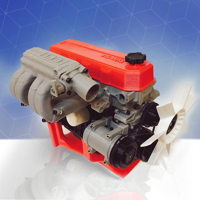 Motor Toyota Impreso en 3D